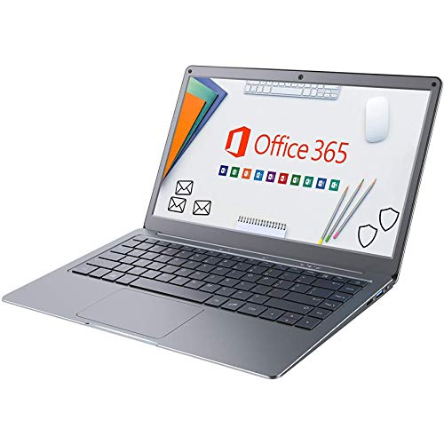 Jumper Laptop Microsoft Office 365, 13,3 Zoll FHD Notebook (4GB DDR3, 64GB eMMC, Erweiterbarer Speicher 1TB SSD und 256GB TF, Dualband WiFi, Windows 10,Bluetooth 4.2, Intel Celeron N3350) Grau